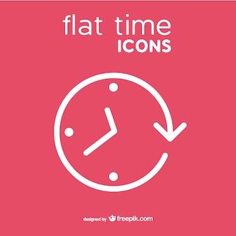 Clock vector icon flat style