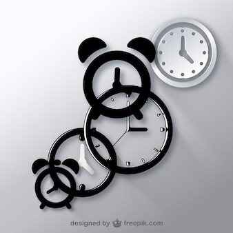 Clocks icon vectors