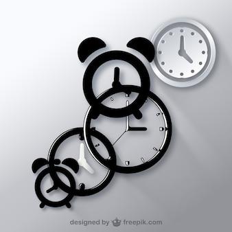 Clocks icon vectors