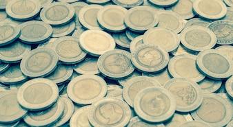 Close up coin textures