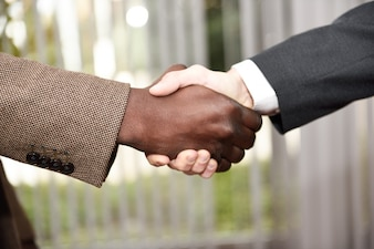 Close-up of a successful handshake
