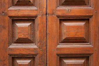 Close-up of antique wooden door