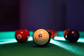 Close-up of billiard balls