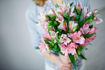 花束のクローズアップ