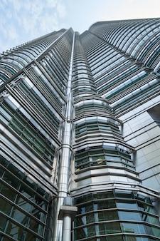 Close-up of modern metal building