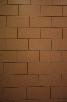 Close-up of new brick wall background