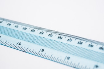 Close-up of plastic ruler