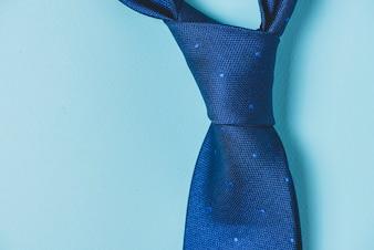 ネクタイの結び目のクローズアップ