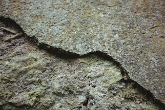 Close-up of weathered stone wall