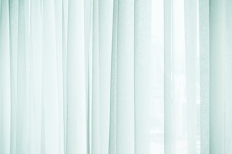 Close-up of white curtains