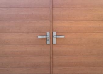 Close up of Wood door .