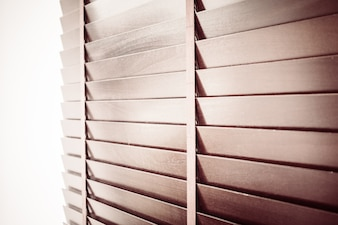 Close-up of wooden blind