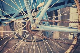 Закройте старую велосипедную цепь