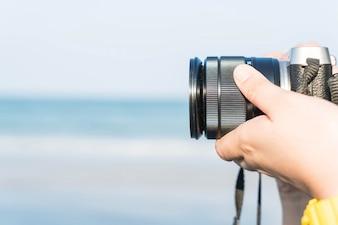 クローズアップ - カメラを使って写真を撮る