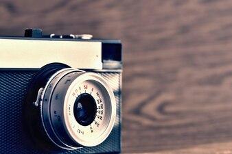 Close-up vintage camera