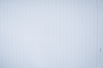 Close up white notebook page with line.