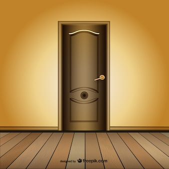 Closed door vector template