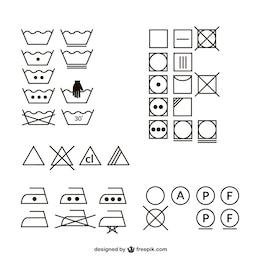 Clothes wash vectors collection