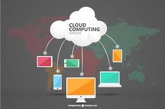 Cloud computing vector art