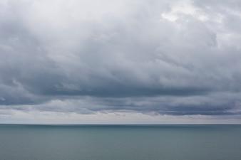 Cloudy sky landscape