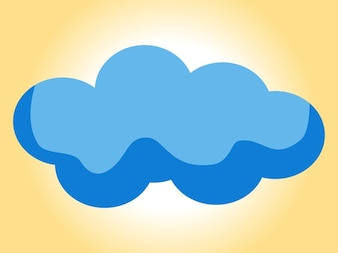 Cloudy sky simplified icon vector