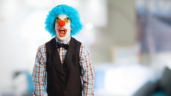 Clown laughing out loud