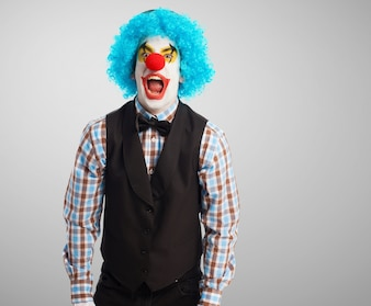 Clown screaming