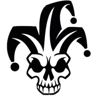 Clown skull harlequin vector image