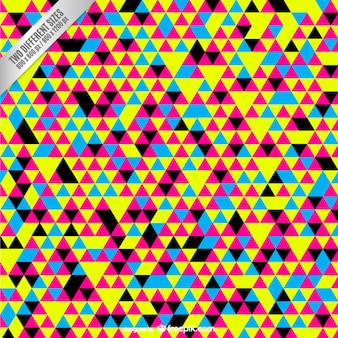 Cmyk background with colorful small triangles