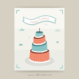 CMYK Birthday card design