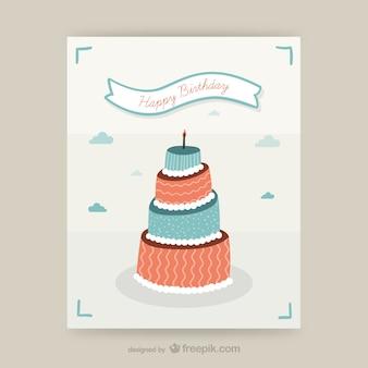 CMYK Birthday card design
