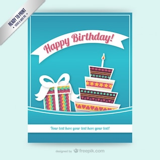 CMYK Birthday card template
