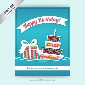 CMYK Birthday card template