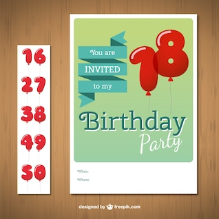 CMYK Birthday card with numbers