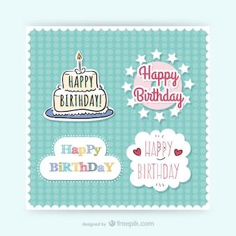 CMYK Birthday stickers