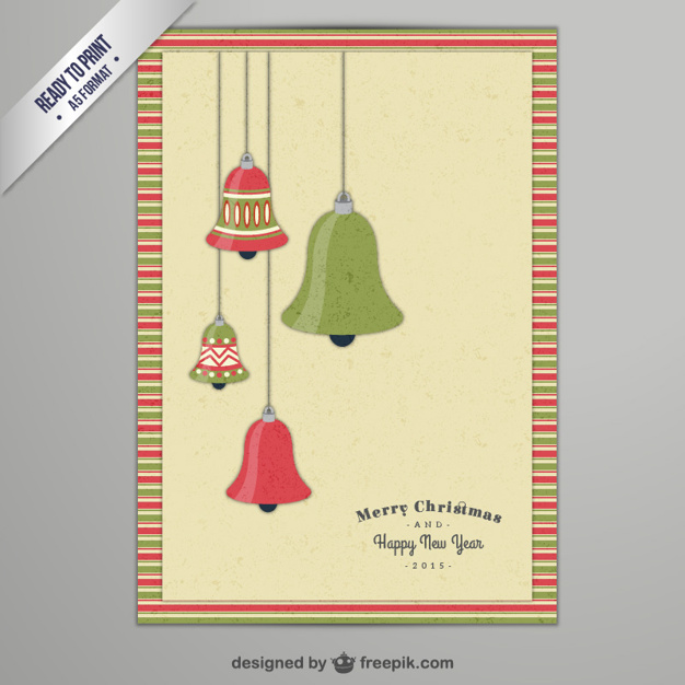 CMYK Christmas card with bells