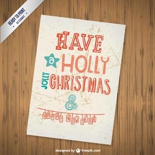 CMYK Christmas greetings card