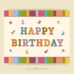 CMYK Colorful birthday card