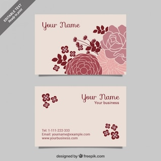 CMYK Floral business cards