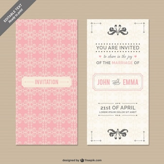CMYK Wedding invitation