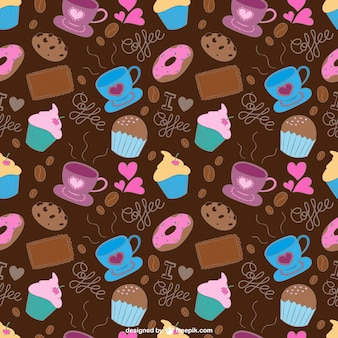 Coffee and sweets pattern