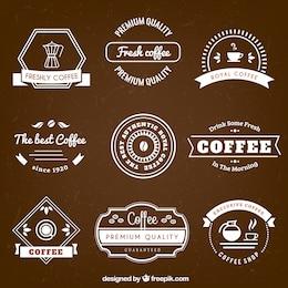 Coffee badges in retro style