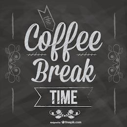 Coffee break blackboard design