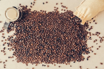 Coffee concept with coffee beans