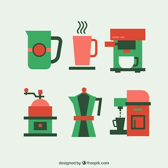 Coffee elements icons