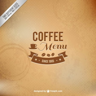Coffee menu vector with texture