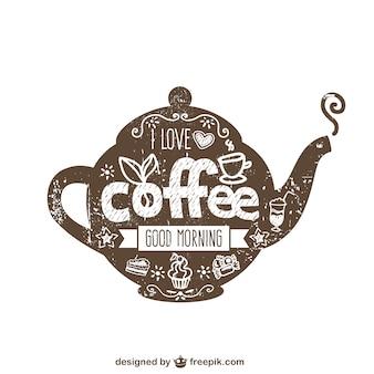 Coffee pot typography