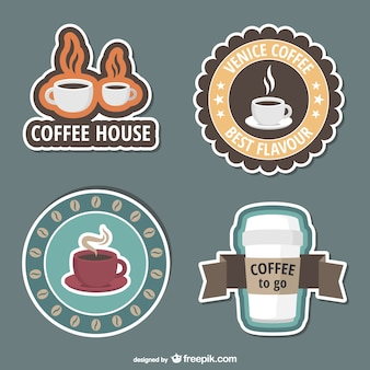 Coffee shop stickers