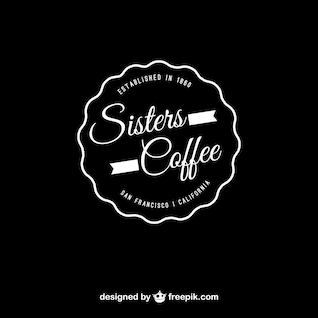 Coffee vector editable logo