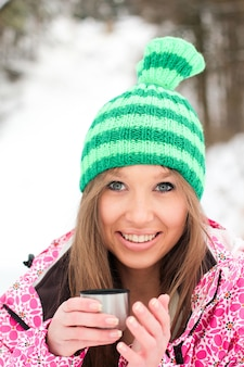 Cold winter people hobby background